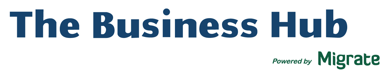The Business Hub Powered by Migrate Logo